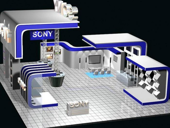 SONY数码店整店产品展示柜效果图片