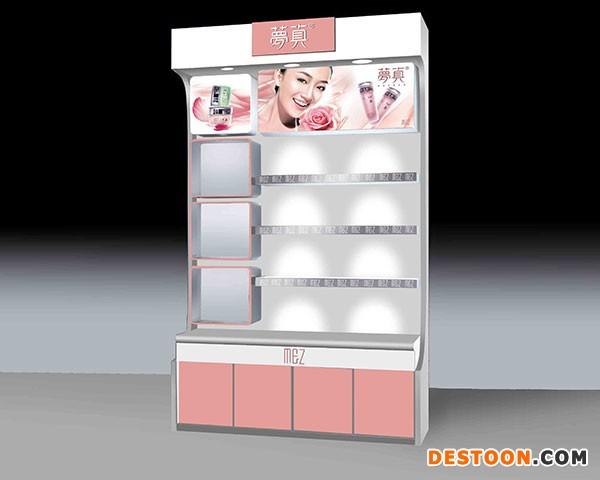 济南化妆品展柜15平方价格
