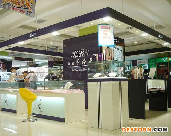 郑州化妆品展柜设计制作小清新价格低到泰达