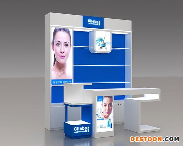 化妆品展柜设计制作选泰达高端大气上档次