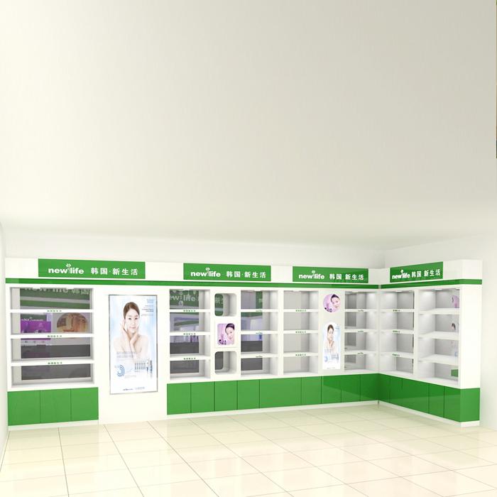 郑州化妆品展柜厂家设计制作价格低生意旺