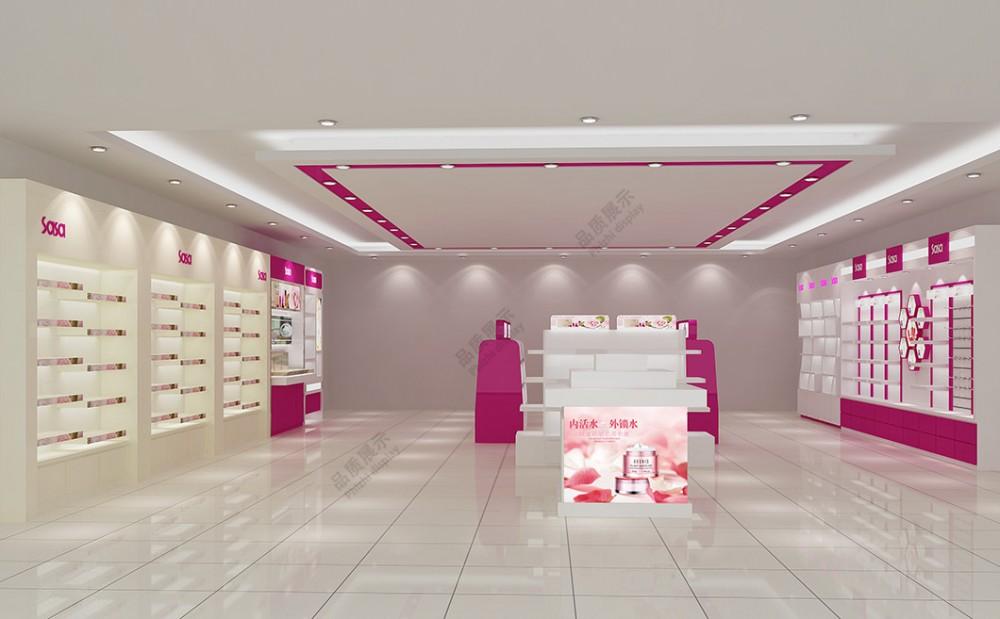 郑州泰达化妆品展柜中原小白龙