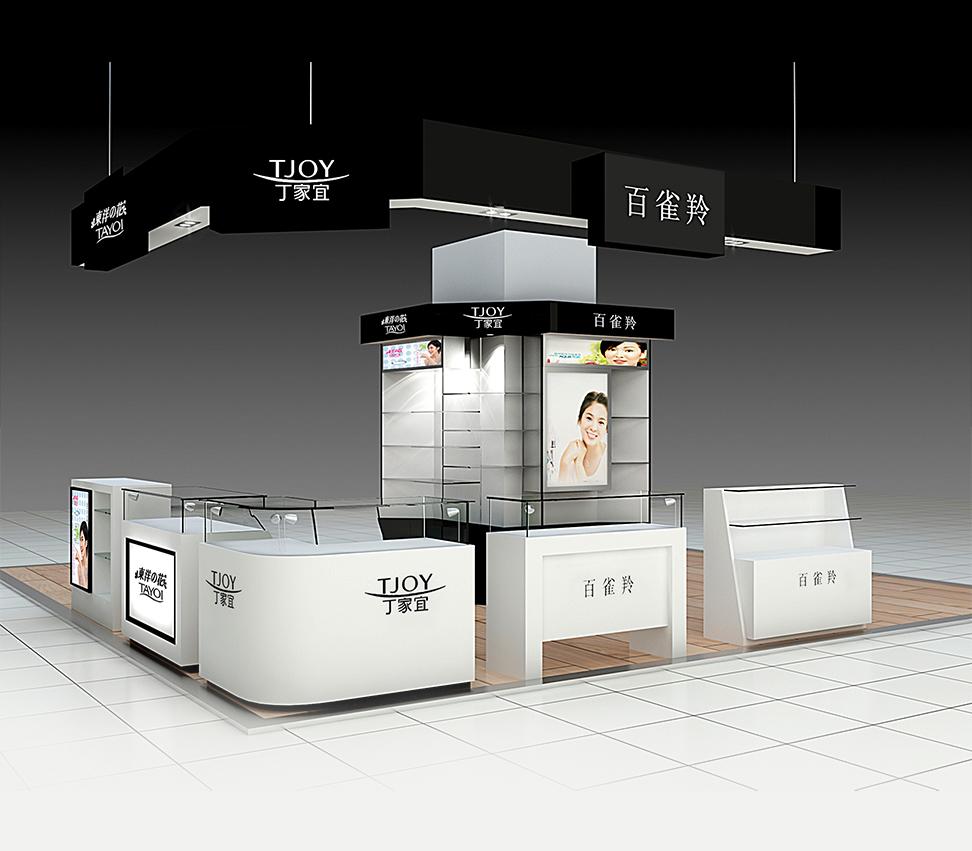 郑州泰达化妆品展柜厂永久的美丽在工艺中展现