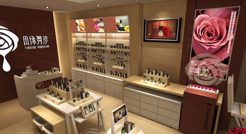 南街村化妆品展柜厂精品定做到泰达